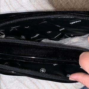 New Authentic CHANEL Black Velvet Makeup Bag